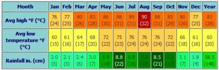 Guía del tiempo en Miami